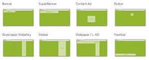 Möglicher Formate für die Platzierung von Online Werbemitteln auf Sites