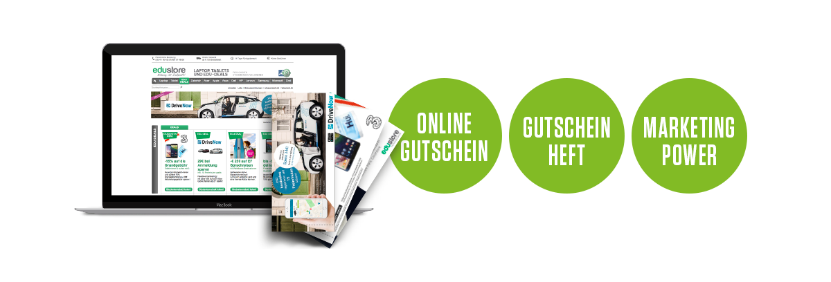 EduDeals - Online Gutschein | Gutschein Heft | Marketing Power