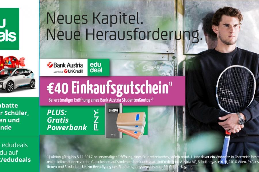 Bank Austria - das StudentenKonto WS 2017 edudeal