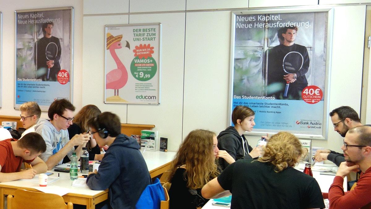 Bank Austria - das StudentenKonto WS 2017 UniPlakat
