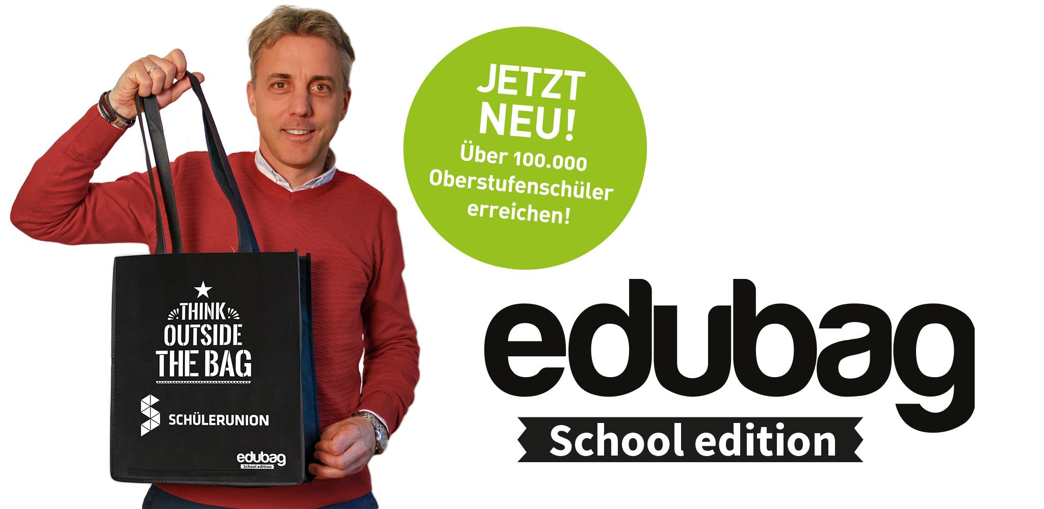 edubag school edition - Sampling für Schüler. Media in Progress begeistert über 100.000 Oberstufenschüler von Ihrem Produkt.