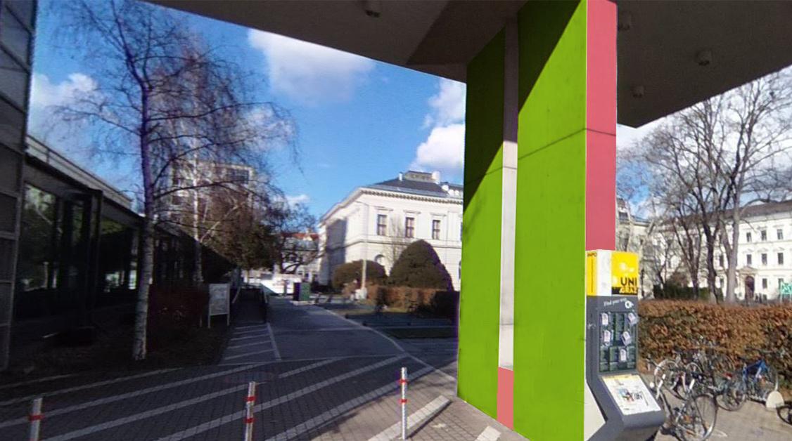 UniBranding Uni Graz - Großflächige, eindrucksvolle Markeninszenierungen an der Uni Graz. Media in Progress gestaltet Ihre perfekte Studenten-Kampagne. Wir sind die beste Agentur Österreichs für Hochschulmarketing. Mit uns erreichen Sie die Zielgruppe Studenten und gewinnen Sie sie als Kunden